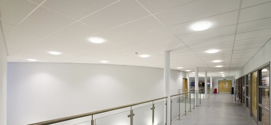suspended ceiling system in circulation area