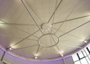 Ecophon Gedina acoustic solution for round ceilings