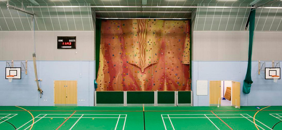 sports hall acoustics installation