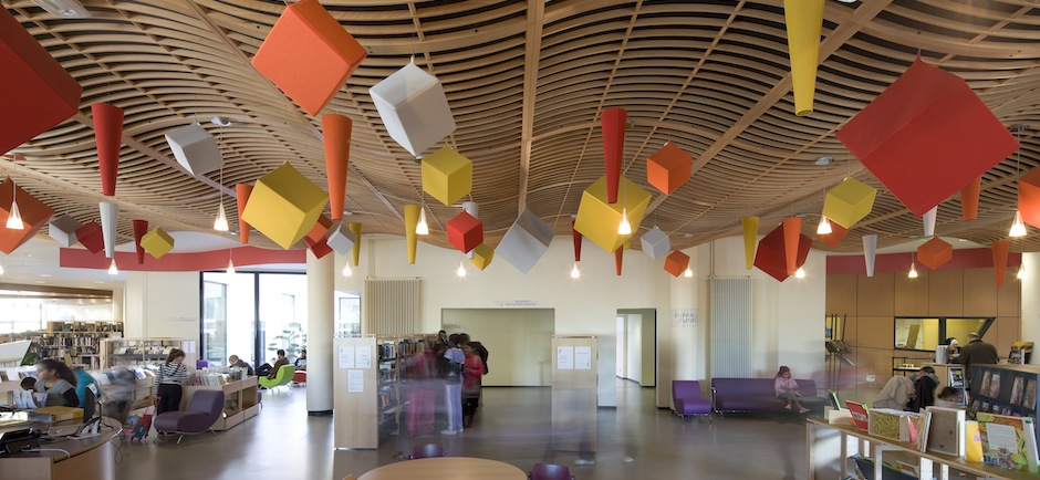 school acoustics installation library