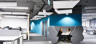 Ecophon solo square in Allianz office