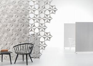 White Abstracta Airflake screen