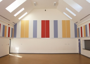 sports hall acoustic panels on walls