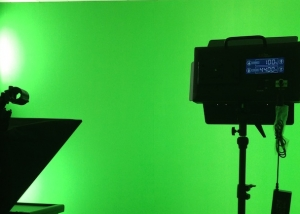 green screen soundproofed audio visual recording studio
