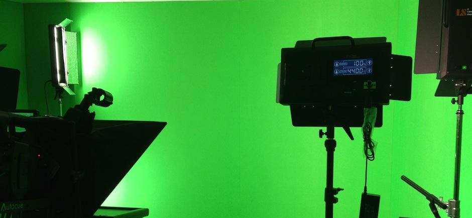 green screen soundproofed audio visual recording studio