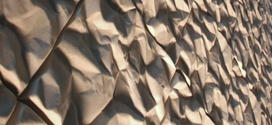 offecct scrunch textured acoustic panels in brown