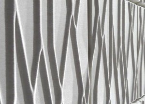 white offect soundwave botanic panels