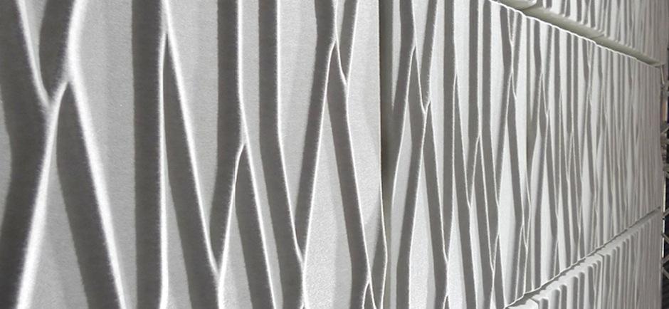 white offect soundwave botanic panels
