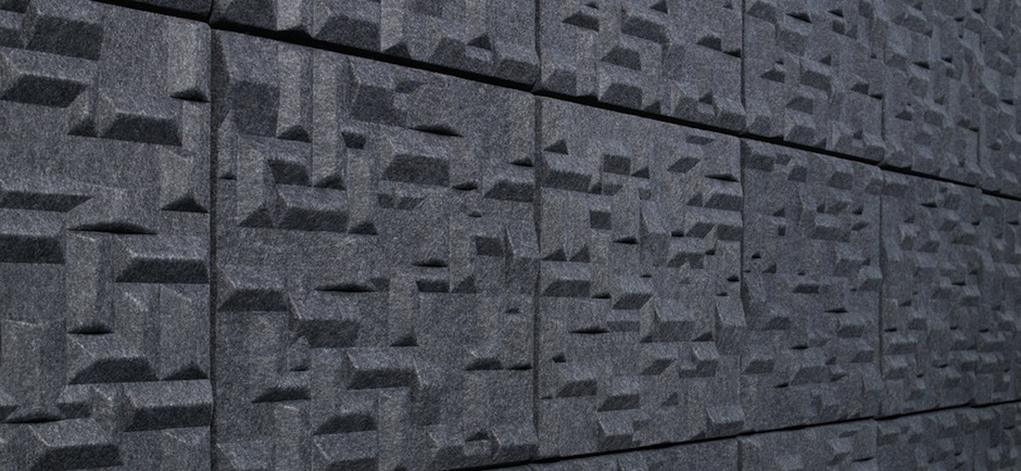 offect soundwave village wall panels in grey