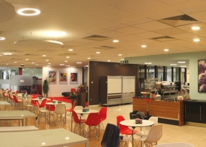 Acoustic installation in Pepsico''s cafeteria