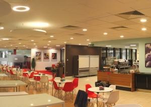 Acoustic installation in Pepsico''s cafeteria