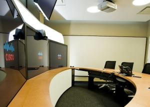 acoustic wall panelling in Pepsico conference room installed by resonics