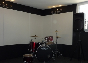 Ecophon wall panels in Urban-D London recording studio.