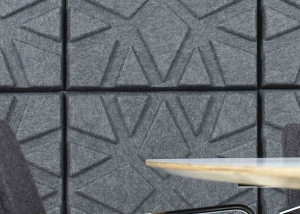 offecct geo acoustic wall panels in grey