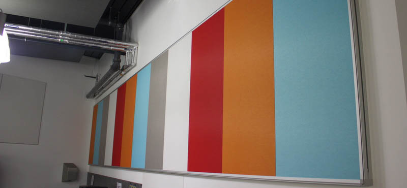 multicoloured acoustic wall panels