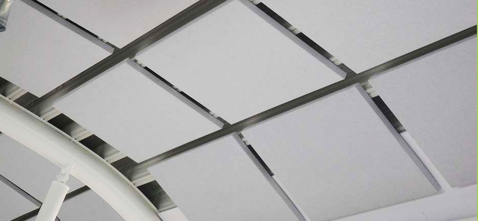 Sound absorption panels from Ecophon in White Frost