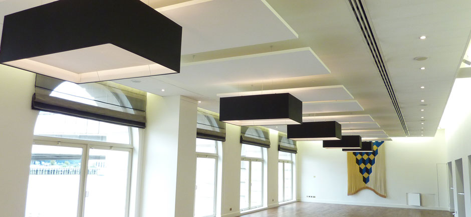 village hall with sound absorbing panels acoustic solutions office acoustics