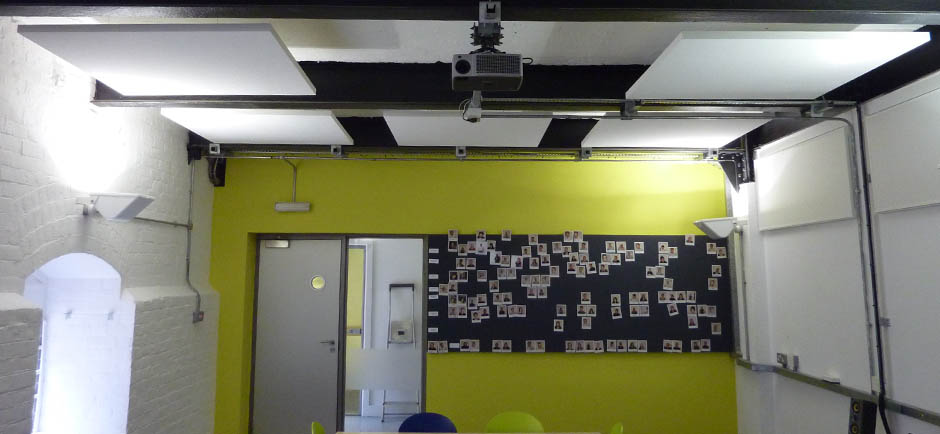 acoustic panels in classroom