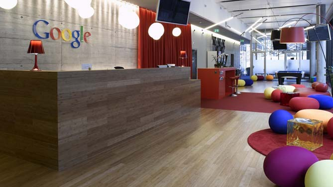 google open plan office