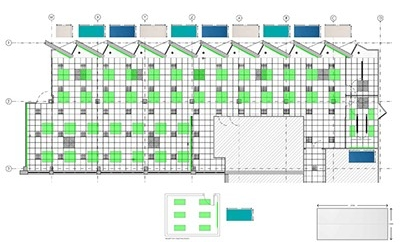 Drawing and design of acoustically treated call centre.