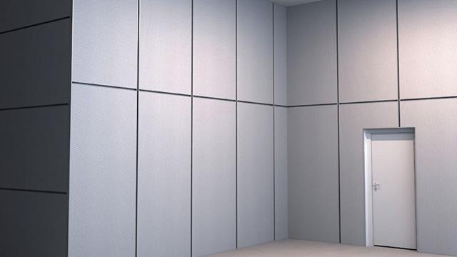 Steel frames wall panels from Rockfon