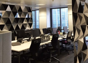 abstracta acoustic panels in london office