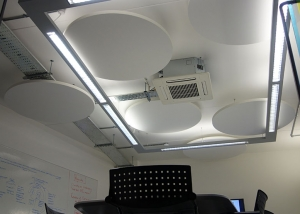 Acoustic panels in Brand Pie office