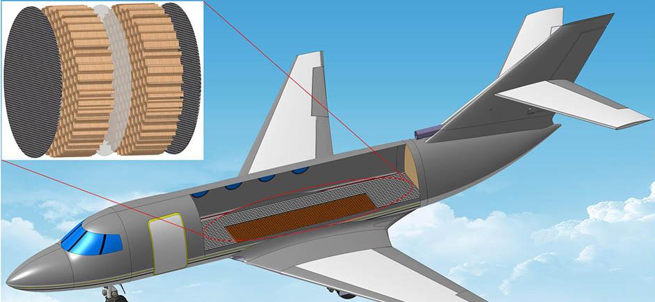 Diagram of metamaterial in plane structure