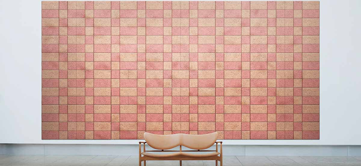 Baux acoustic wall panels as large feature wall
