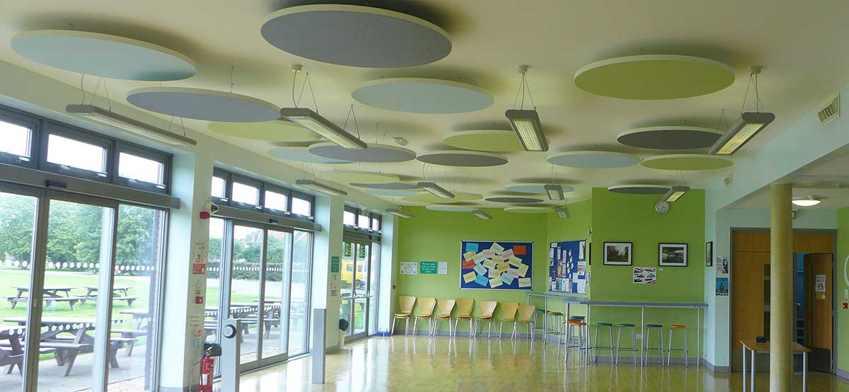 acoustic panels in school classroom