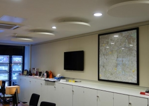 savills office with acoustic panels