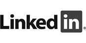 LinkedIn Black And White Logo
