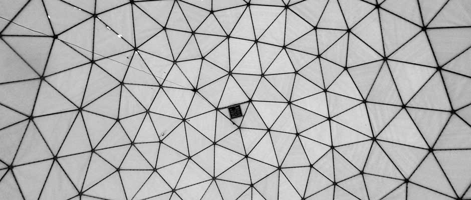 Inside radome of Teufelsberg station