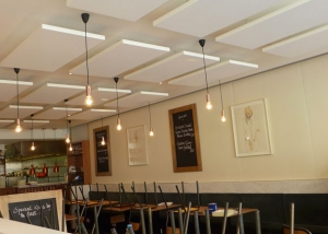 Acoustic installation at London restaurant