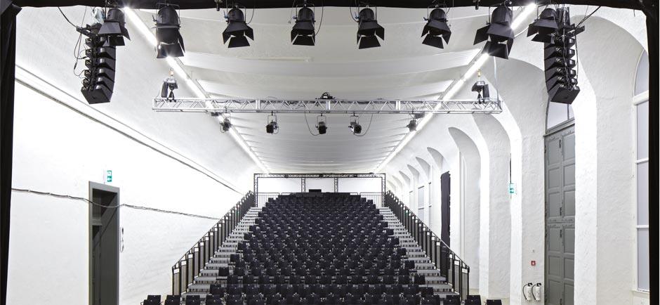 acoustic sails in large auditorium