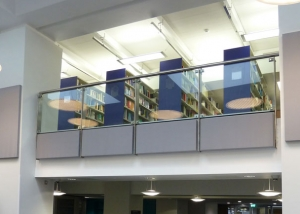 acoustic panels on library walls