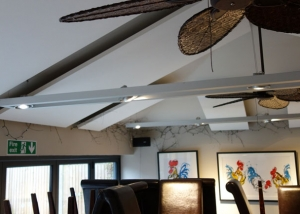 acoustic panels in small bar