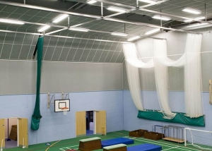 sound absorbing ceiling in sports hall