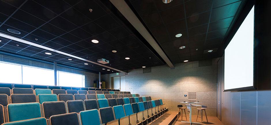 acoustic ceiling in auditorium