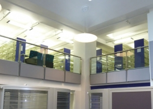 sound absorbing panels in college library