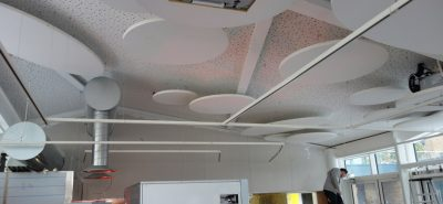 plough way cafe ceiling acoustics