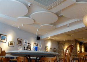 tabure restaurant acoustic panels