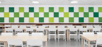 Green Abstracta soneo wall panels