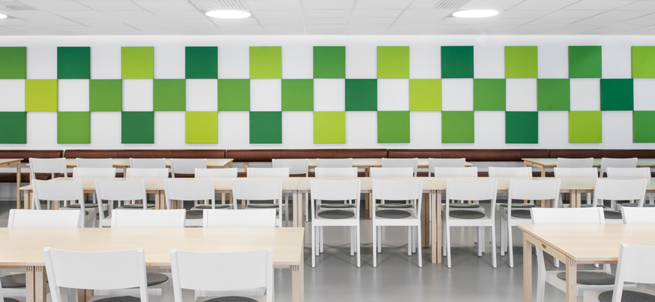 Green Abstracta soneo wall panels
