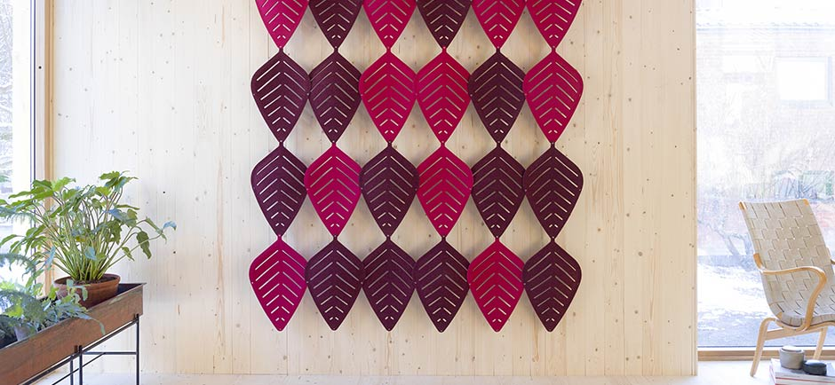 abstracta air leaf panels on wall