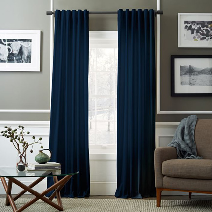 heavy curtains in bedroom