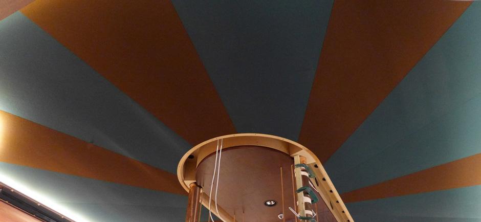 acoustic ceiling in casa cruz restaurant