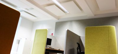 acoustic wall and ceiling panels in SAS office