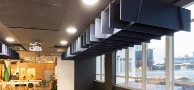 autex lattice sound absorbing baffles