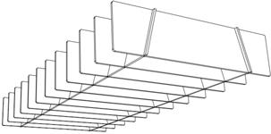 Quietspace lattice trapezium baffle